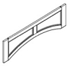 RFPAV42 - Recessed Panel Arched Valance 12